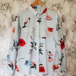 Ann Taylor utility blouse size medium